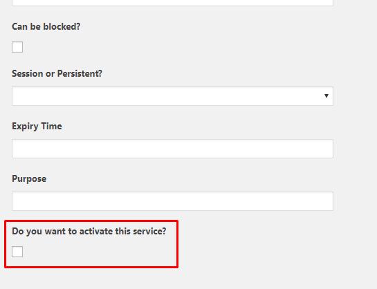 deactivate service