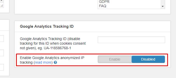 anonymized google analytics ip tracking